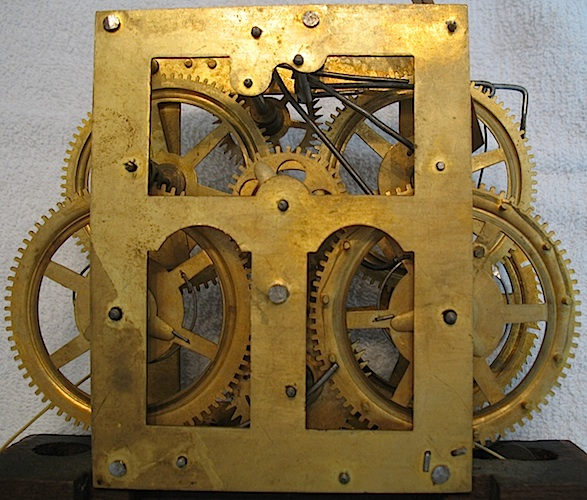 30 Hr Jerome Patent Brass A Chauncey Jerome Clock Collector